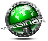 Webinar Icon - Web-based Seminar Royalty Free Stock Photo