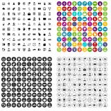 100 webinar icons set vector variant. 100 webinar icons set vector in 4 variant for any web design isolated on white Royalty Free Stock Photos