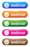Webinar royalty free illustration