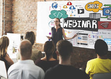 Webinar Innovation Web Design Technology Concept Stock Photos