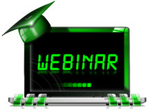 Webinar - Laptop Computer Royalty Free Stock Photo