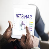 Webinar Links Seo Hand Cyberspace Concept Royalty Free Stock Photography