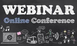 Webinar Online Conference Stock Image