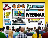 Webinar Online Seminar Global Communications Concept.  Royalty Free Stock Photography