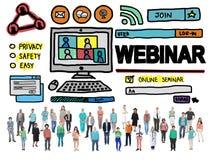 Webinar Online Seminar Global Conmmunications Concept Stock Photography