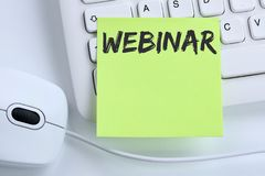 Webinar online workshop training internet learning teaching semi Stock Photo