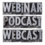 Webinar, podcast and webcast Royalty Free Stock Photos