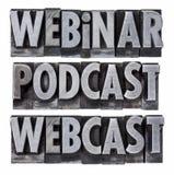 Webinar, podcast y webcast Fotos de archivo libres de regalías