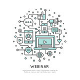 Webinar and Presentation Video Live Stream Royalty Free Stock Photos