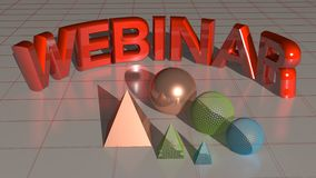 Webinar red Stock Images