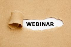 Webinar Ripped Brown Paper Concept Royalty Free Stock Image