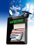 Webinar - Tablet Computer - Web-based Seminar Royalty Free Stock Image