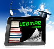 Webinar - Tablet Computer - Web-based Seminar Royalty Free Stock Photos