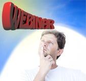 Webinar thinking Royalty Free Stock Photo