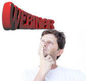 Webinar thinking Royalty Free Stock Image