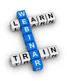 Webinar. Train and learn crossword puzzle stock illustration