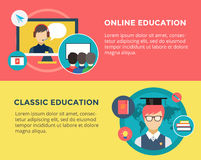 Webinar vector illustration. Online School Royalty Free Stock Image