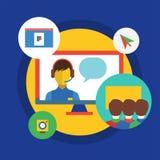 Webinar vector illustration. Online School Stock Photos