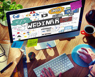 Webinar Web Seminar Technology Online Concept Royalty Free Stock Image