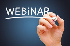 Webinar White Marker Royalty Free Stock Image