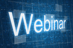 Webinar word on digital background Royalty Free Stock Image