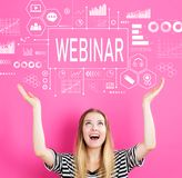 Webinar with young woman Royalty Free Stock Images