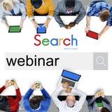 Webinaronderwijs het Leren het Concept van het het Onderwijsklaslokaal stock afbeelding