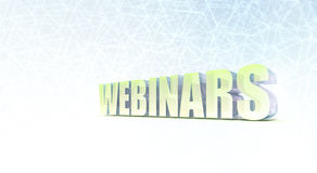 Webinars Banner Royalty Free Stock Photos