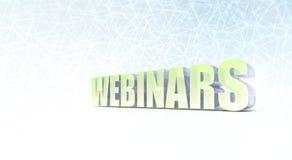 Webinars Banner. Web Seminars on Blue Background