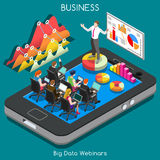 Webinars 02 Business Isometric Stock Photo