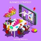 Webinars 03 Business Isometric Stock Image