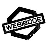 Webisode rubber stamp. Grunge design with dust scratches. Effects can be easily removed for a clean, crisp look. Color is easily changed Royalty Free Stock Photo