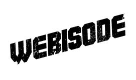 Webisode rubber stamp. Grunge design with dust scratches. Effects can be easily removed for a clean, crisp look. Color is easily changed Royalty Free Stock Image