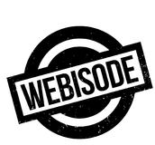 Webisode rubber stamp. Grunge design with dust scratches. Effects can be easily removed for a clean, crisp look. Color is easily changed Royalty Free Stock Photos