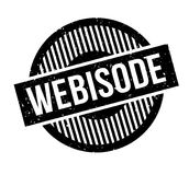 Webisode rubber stamp. Grunge design with dust scratches. Effects can be easily removed for a clean, crisp look. Color is easily changed Stock Photography