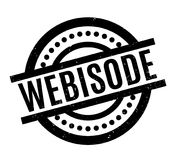 Webisode rubber stamp. Grunge design with dust scratches. Effects can be easily removed for a clean, crisp look. Color is easily changed Royalty Free Stock Photography