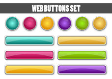 Webknopen voor uw ontwerp worden geplaatst dat Stock Foto's