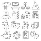 Weblines icons pack collection Royalty Free Stock Photos