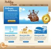 Webmalplaatje voor reisplaats Royalty-vrije Stock Foto