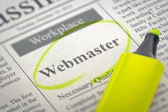 Webmaster Hiring Now 3d Royalty-vrije Stock Afbeeldingen