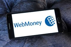 WebMoney payment company logo. Logo of WebMoney payment company on samsung mobile.  WebMoney is an internet currency system. The unit of payment is called Stock Images