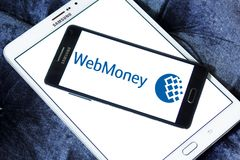 WebMoney payment company logo. Logo of WebMoney payment company on samsung mobile.  WebMoney is an internet currency system. The unit of payment is called Royalty Free Stock Photo