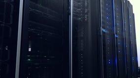 Webnetwerk, Internet-telecommunicatietechnologie, grote gegevensopslag, wolk de dienst van de bedrijfs gegevensverwerkingscompute stock videobeelden