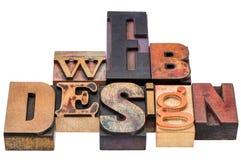 Webontwerp in gemengd houten type Stock Foto's