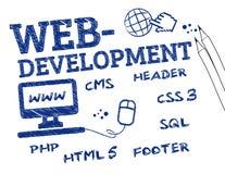 Webontwikkeling Stock Fotografie
