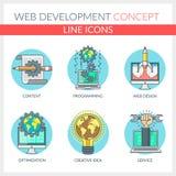 Webontwikkeling Stock Illustratie