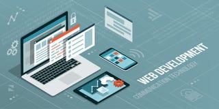 Webontwikkeling en codage stock illustratie