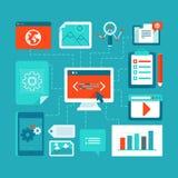Webontwikkeling en codage vector illustratie