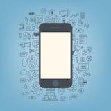 Webontwikkeling met moderne smartphone Royalty-vrije Stock Foto's