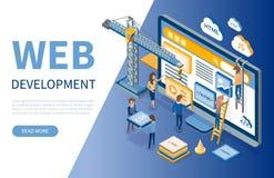 Webontwikkeling, Ontwikkelaarsoptimalisering van Plaatsen vector illustratie